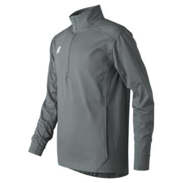 New Balance Jr Solid Half Zip, Gunmetal