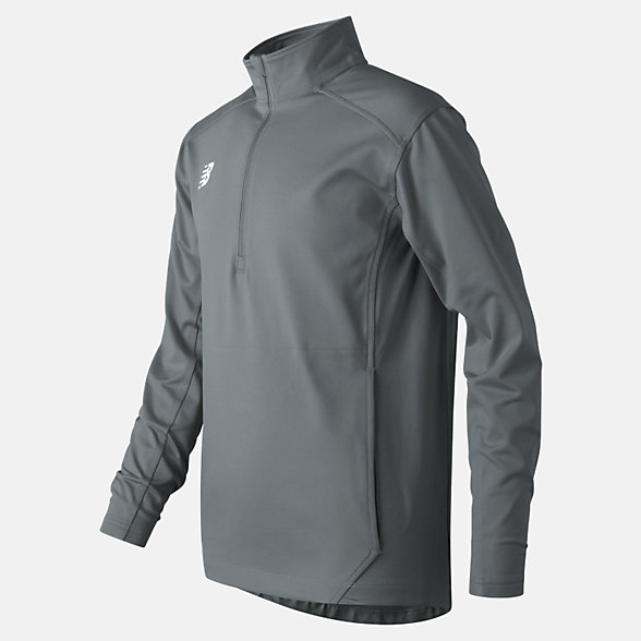 New Balance Jr Solid Half Zip, TMYT710GNM