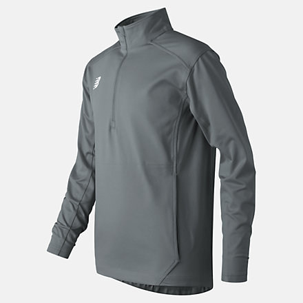 New Balance Jr Solid Half Zip, TMYT710GNM image number null