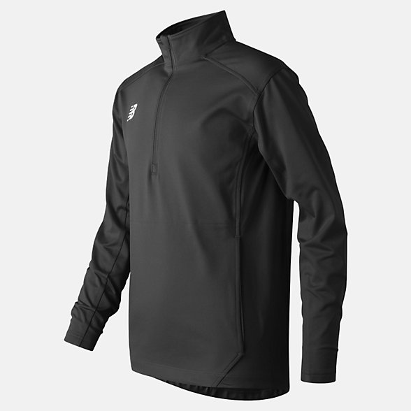 New Balance Jr Solid Half Zip, TMYT710TBK