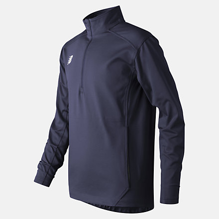 New Balance Jr Solid Half Zip, TMYT710TNV image number null
