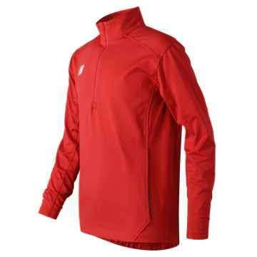 New Balance Jr Solid Half Zip, Team Red