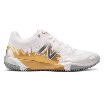 New Balance 4040v5 Turf Playoff Pack, Silver with Gold & White