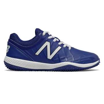 New Balance 4040v5 Youth Turf Cleat, Black with Royal Blue
