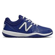 6762781206302 New Balance 4040v5 Youth Turf Cleat, Black with Royal Blue