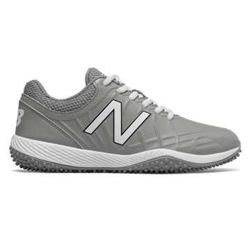 New Balance 4040v5 Youth Turf Cleat, Grey with White