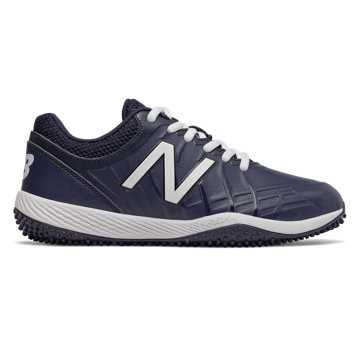 New Balance 4040v5 Youth Turf Cleat, Navy with White