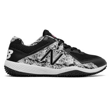 New Balance Turf Pedroia 4040v4, Black with White