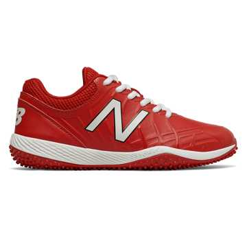 New Balance 4040v5 Youth Turf Cleat, Red with White