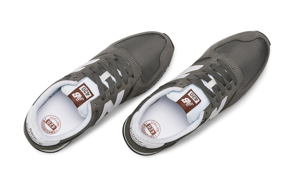 new balance u420 trainers grey white