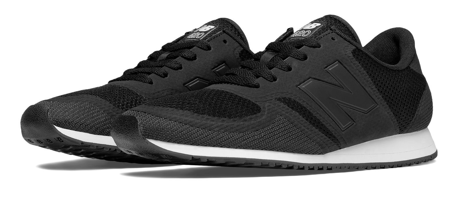 new balance 420 mesh trainers in black