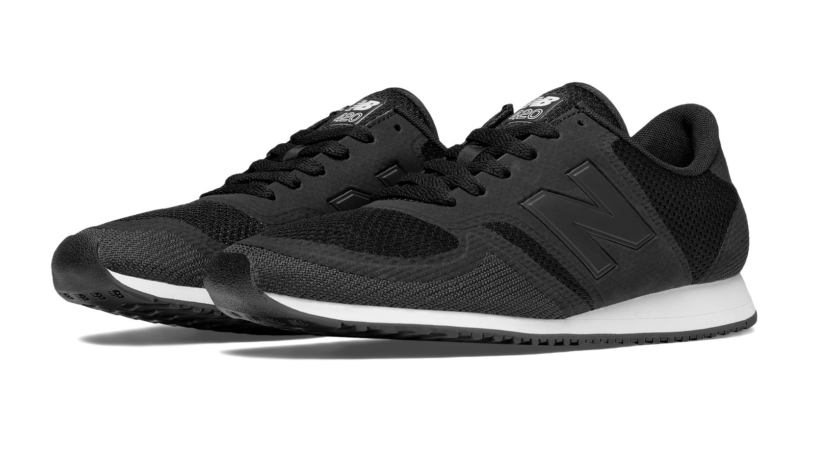 new balance 420 mesh trainers in black mrl420ng