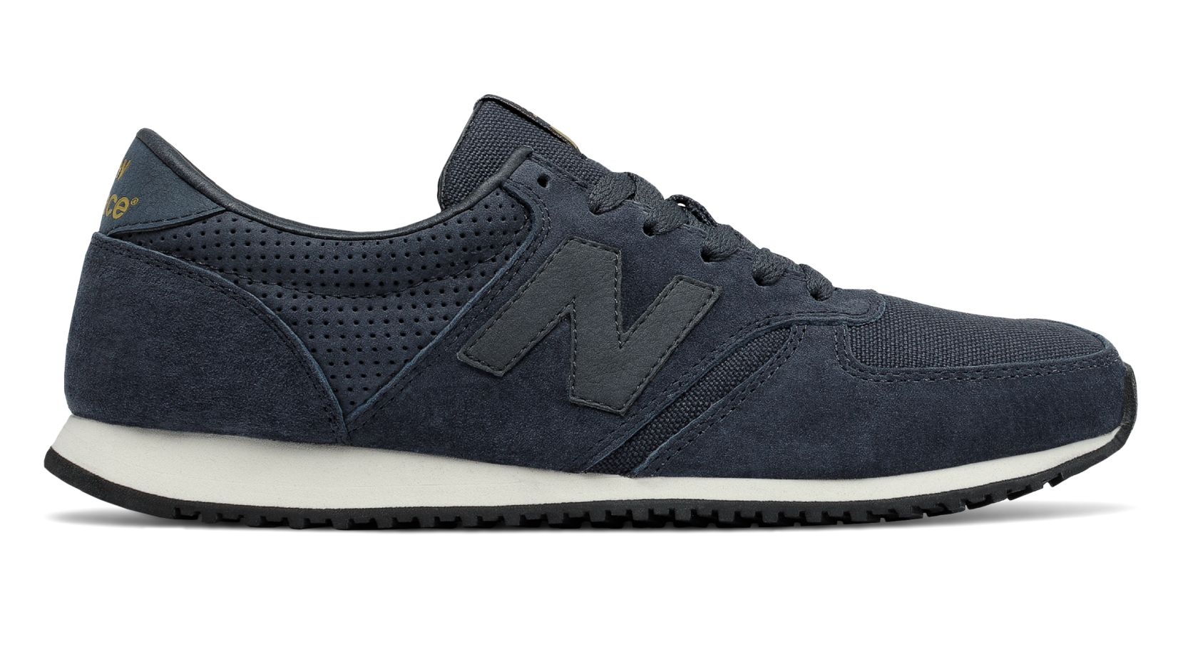 NB 420 70s Running Pigskin, Navy with Black