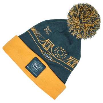 New Balance NYC Half Pom City Beanie, North Sea