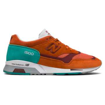 New Balance 1500 Made in UK, Orange Popsicle with Porcelain Green
