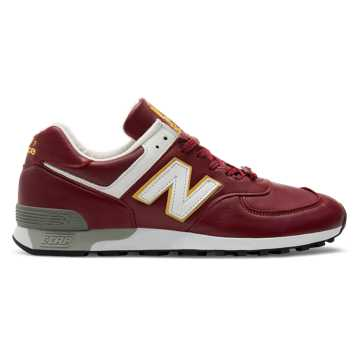 New Balance 576 Made in UK LFC, Burgundy with Yellow & White