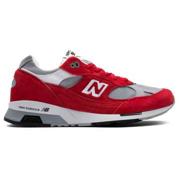 New Balance 991.5 Made in UK, Red with Grey & White