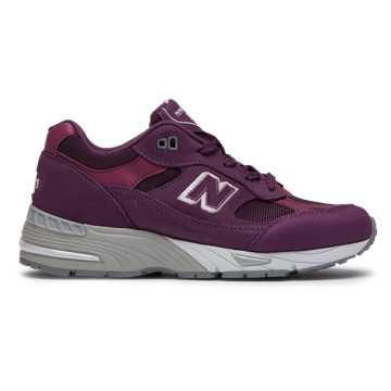 New Balance 991 Made in UK Nubuck, Boysenberry with Grey