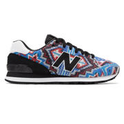 NB Ricardo Seco x New Balance 574, Blue with Red