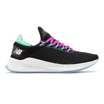 New Balance Fresh Foam Lazr v2 Nationals Indoor, Black with Neon Emerald & Voltage Violet