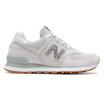 New Balance Limited 574 with Swarovski Crystal, Light Grey