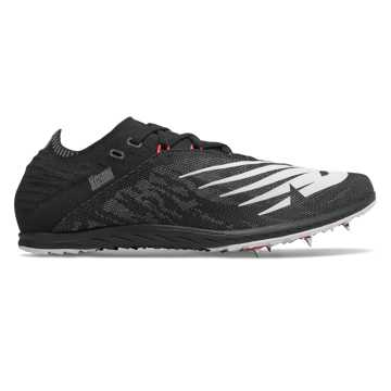 New Balance XC5K v5, Black with Energy Red