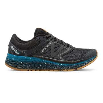 New Balance Fresh Foam 1080v7 Brooklyn Half, Black with Thunder & Deep Ozone Blue