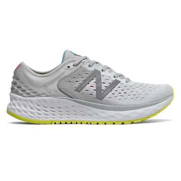 New Balance Fresh Foam 1080v9, Light Aluminum with Silver & Sulphur Yellow
