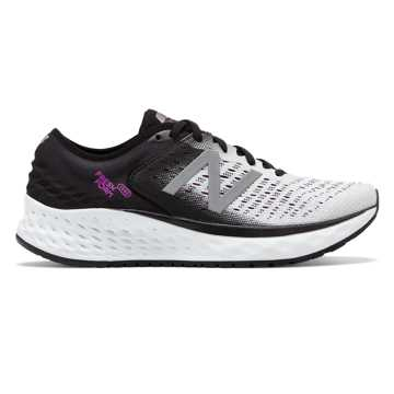 New Balance Fresh Foam 1080v9, White with Black & Voltage Violet