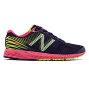 NB 1400v5, Dark Denim with Bright Cherry & Lime Glo