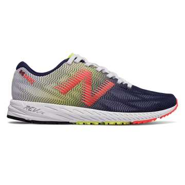 New Balance 1400v6, White with Pigment & Vivid Coral