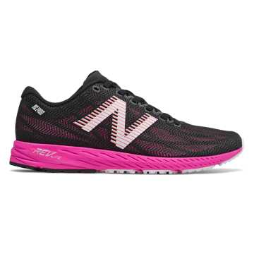 New Balance 1400v6, Black with Peony