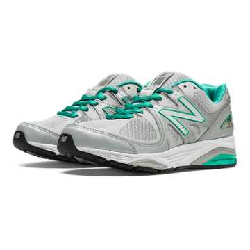 New Balance 1540v2 Made in US, Silver with Mint Green