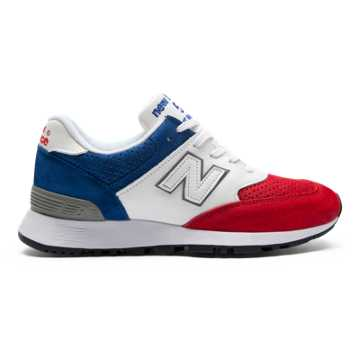 New Balance 576 Made in UK, Red with Blue & White