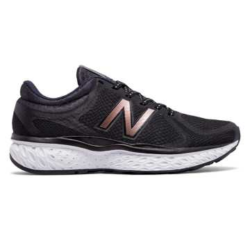 black new balance with rose gold