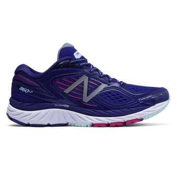 New Balance 860系列  女款稳定、支撑、缓震, 紫色