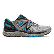 NB 860v7 NYC, Black with Metallic Silver & Blue Infinity