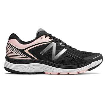New Balance 860v8, Black with Sunrise Glo