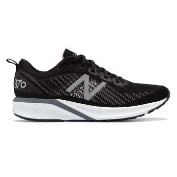 New Balance Women's 870v5, Black with White & Oxygen Pink