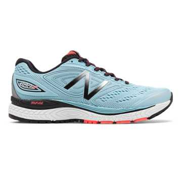 New Balance 880v7 NYRR, Clear Sky with Black & Vivid Coral