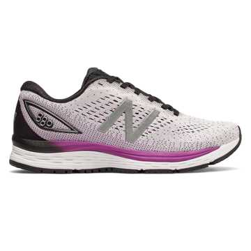 New Balance 880v9, White with Voltage Violet & Black
