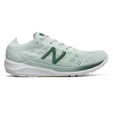 New Balance 890v7, Crystal with Dark Agave & Bleached Lime Glo