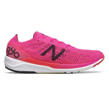 New Balance 890v7, Peony with Energy Red
