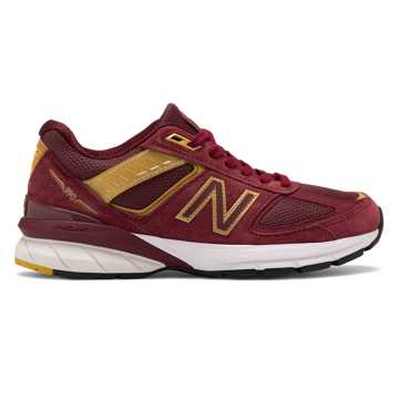 New Balance Made in US 990v5, Burgundy with Gold