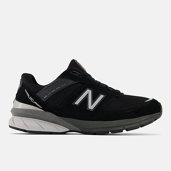 New Balance 990V5美国原产女款复古运动鞋, W990BK5