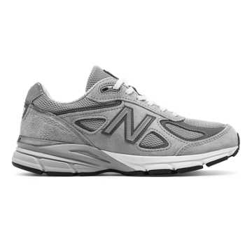 New Balance Womens 990v4 Made in US, Grey with Castlerock