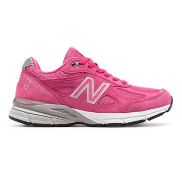 New Balance Womens 990v4 Made in US Pink Ribbon, Komen Pink