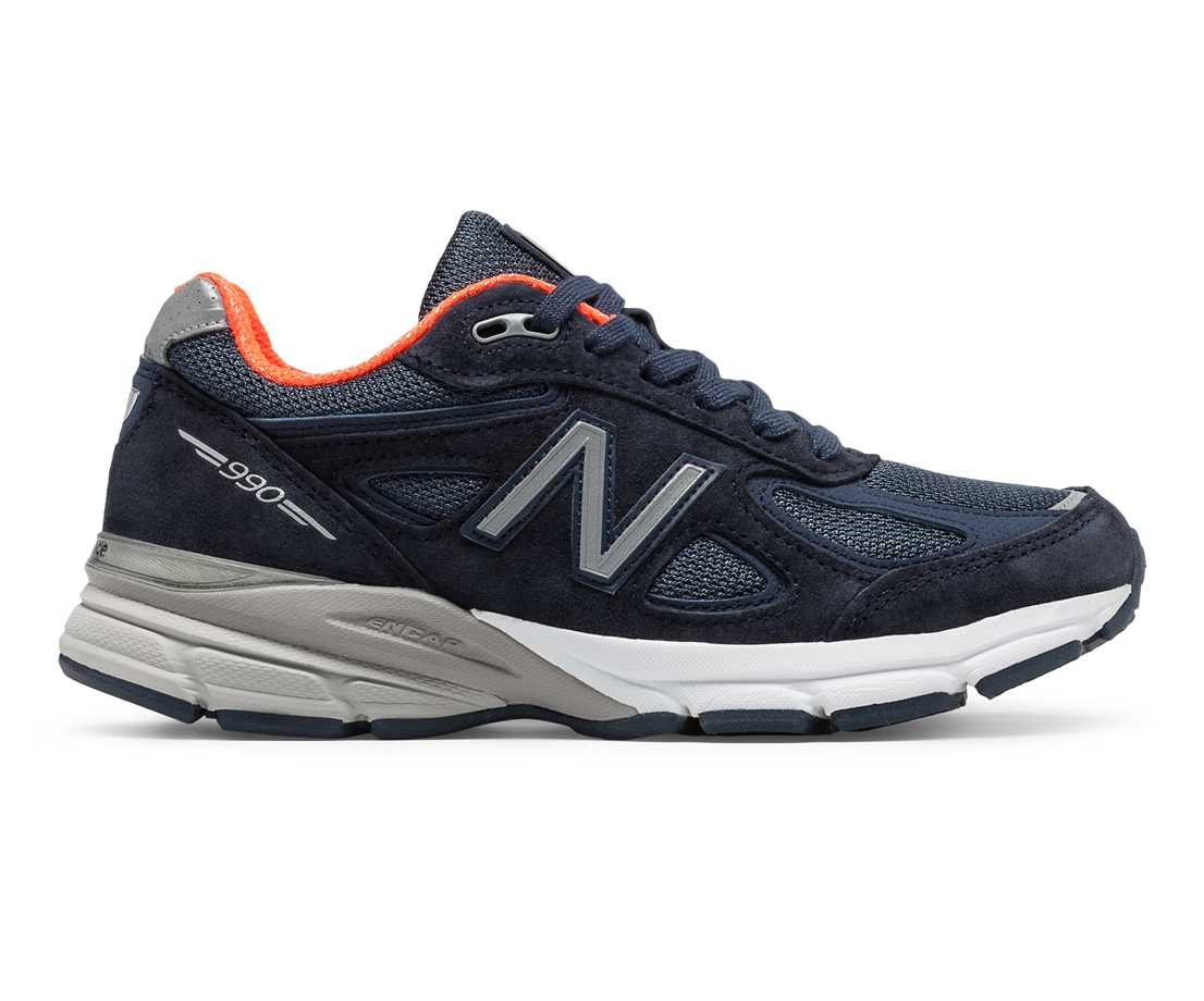 NB 990v4 Made in US, Navy with Orange
