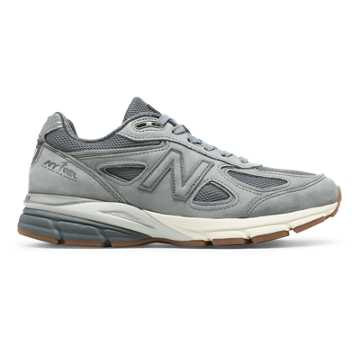 New Balance Womens 990v4 Made in US NYRR, Gunmetal with Grey