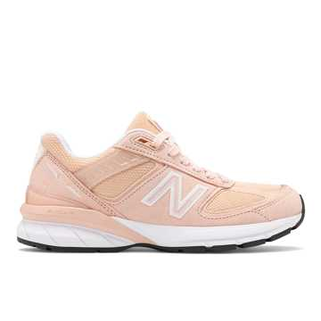 New Balance Womens 990v5 Made in US, Pink with White